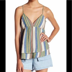 🌸ROMEO + JULIET COUTURE STRIPED CAMI BLOUSE NWT